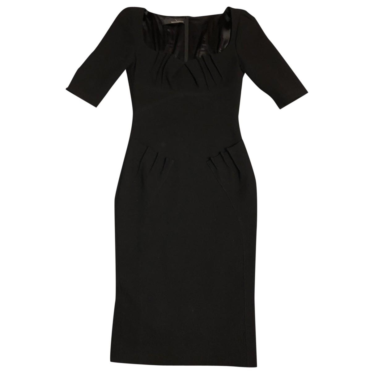 Amanda Wakeley \N Kleid in  Schwarz Wolle
