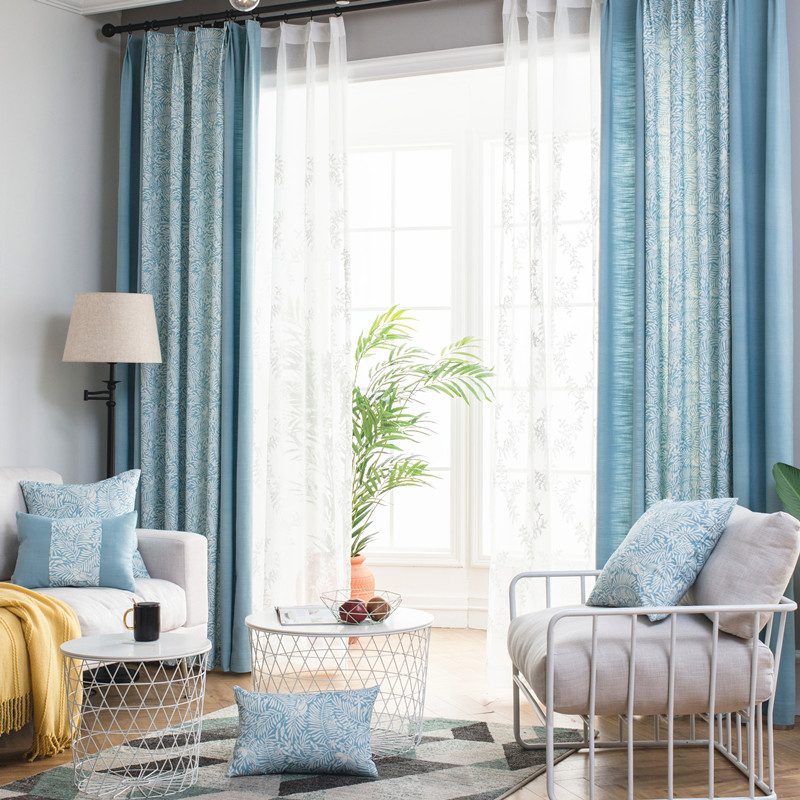 Jacquard Technics Heat Insulation Feature Polyester Material Curtain Sets