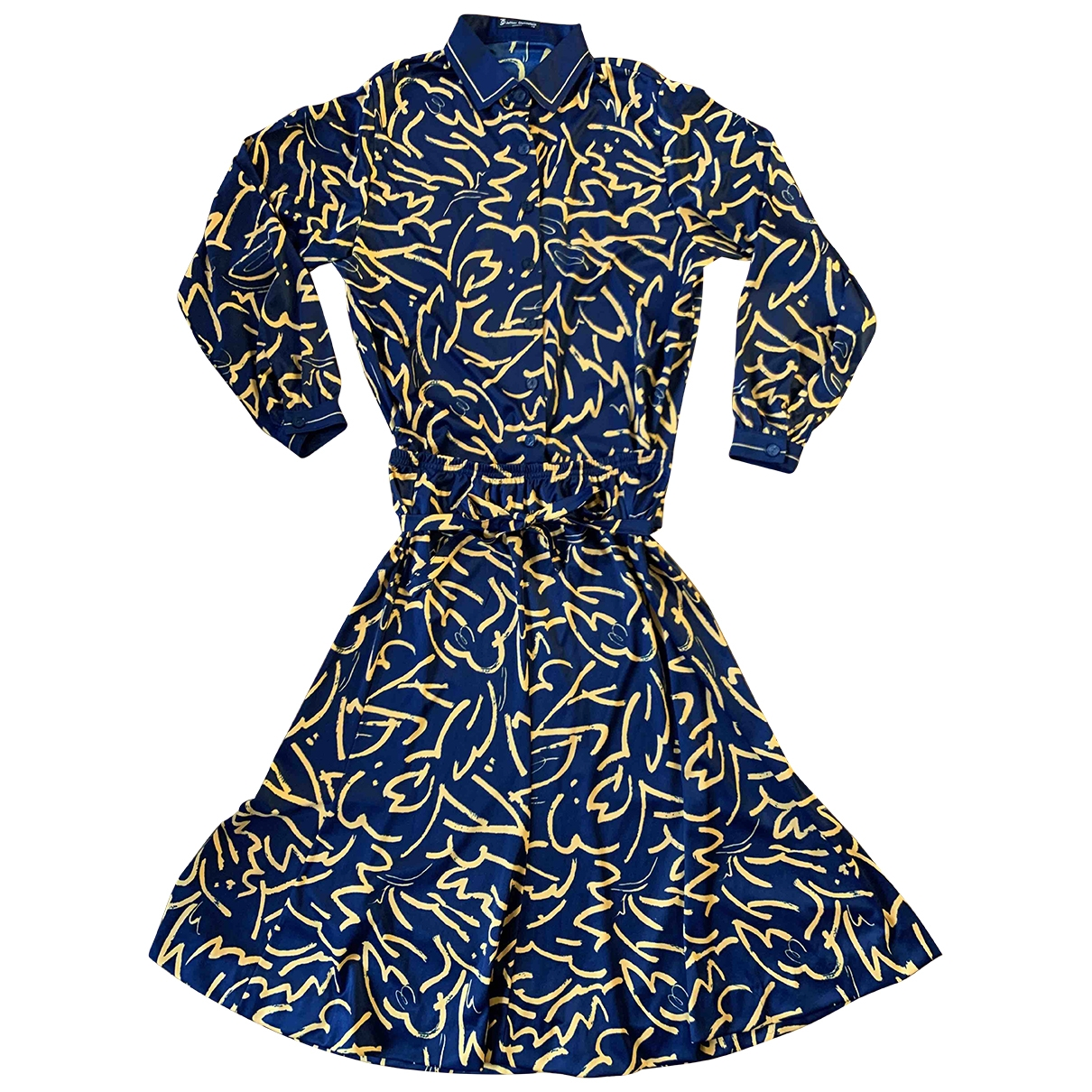 Non Signé / Unsigned Oversize Navy dress for Women 40 FR