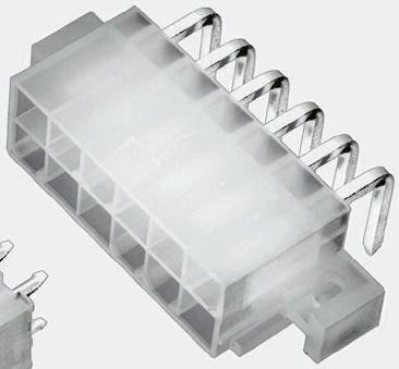 TE Connectivity , VAL-U-LOK, 2 Way, 2 Row, Right Angle PCB Header (10)