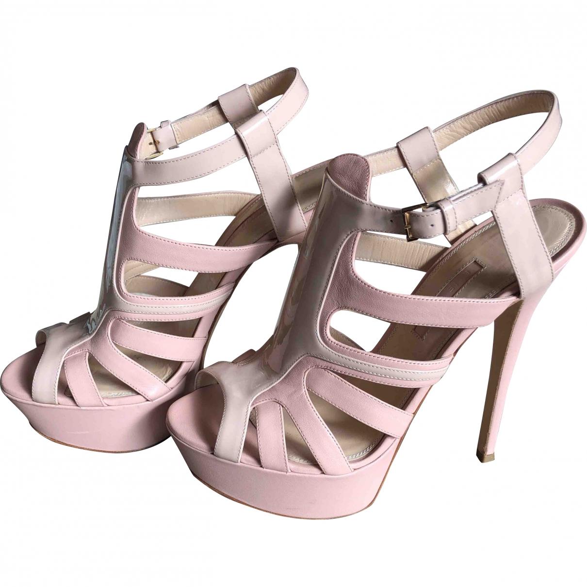 Elie Saab \N Pink Leather Sandals for Women 37 EU