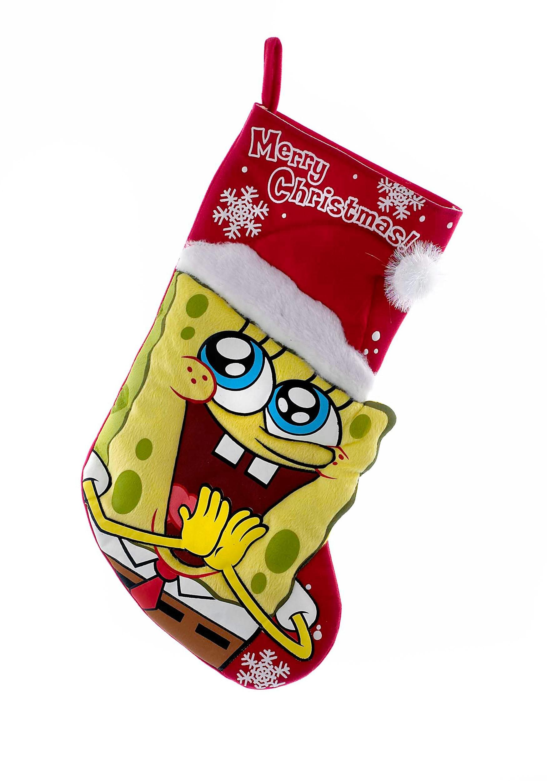 Spongebob Squarepants Printed Applique Stocking