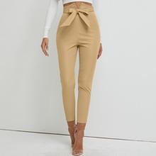 Pantalones cortos con cinturon de cintura alta