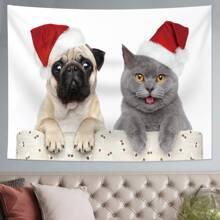 Christmas Animal Print Tapestry