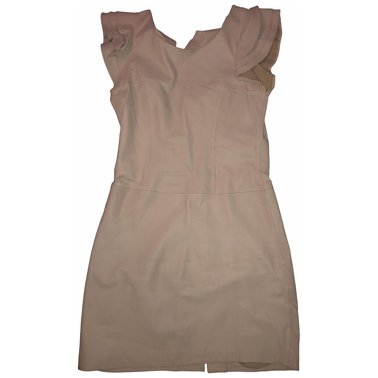 Hotel Particulier - Robe   pour femme en cuir - rose