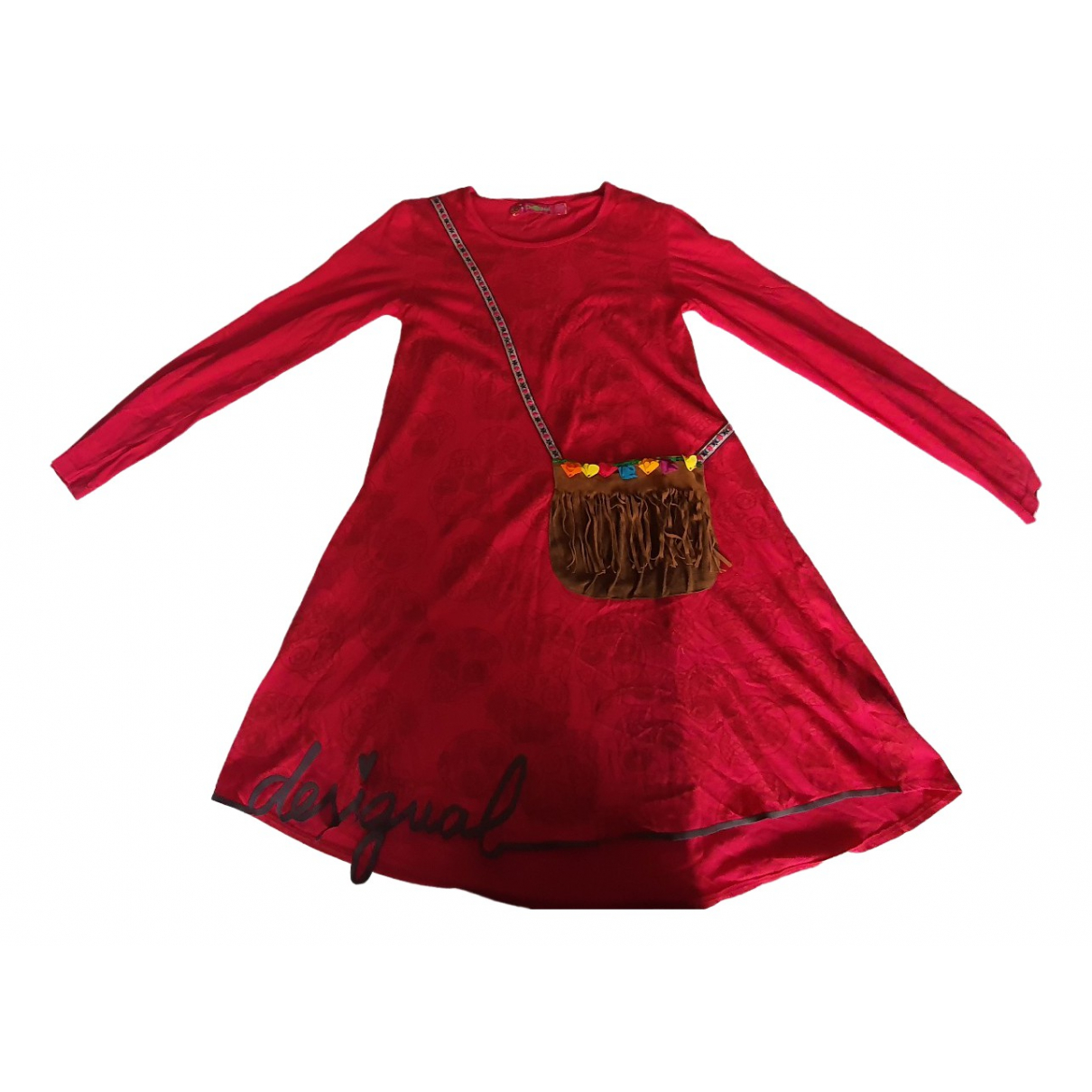 Desigual \N Kleid in  Rot Baumwolle