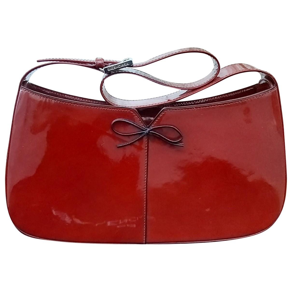 Balenciaga \N Burgundy Patent leather handbag for Women \N