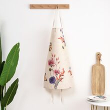 Flower & Butterfly Print Apron