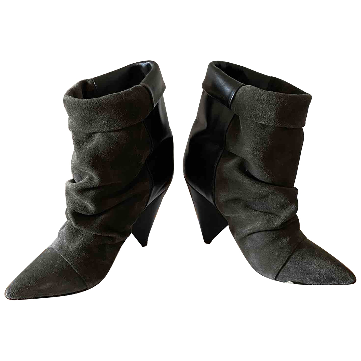 Isabel Marant Luliana Khaki Suede Ankle boots for Women 36 EU