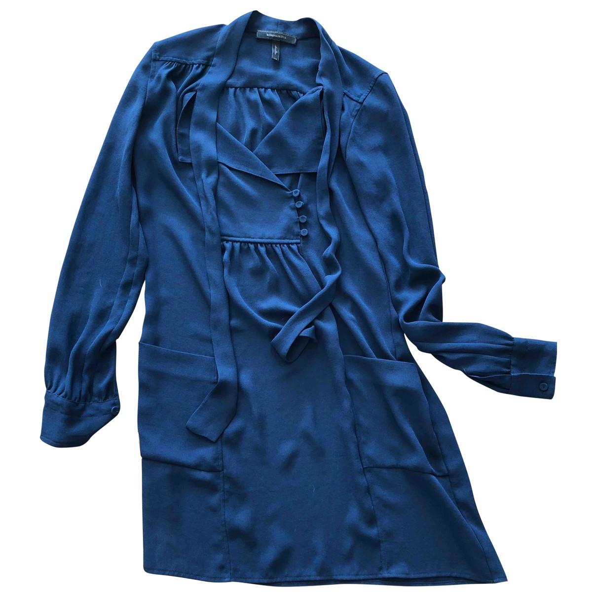 Bcbg Max Azria \N Kleid in  Marine Polyester