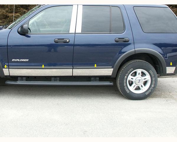 Quality Automotive Accessories 8-Piece Rocker Panel Accent Trim Kit Ford Explorer 2005