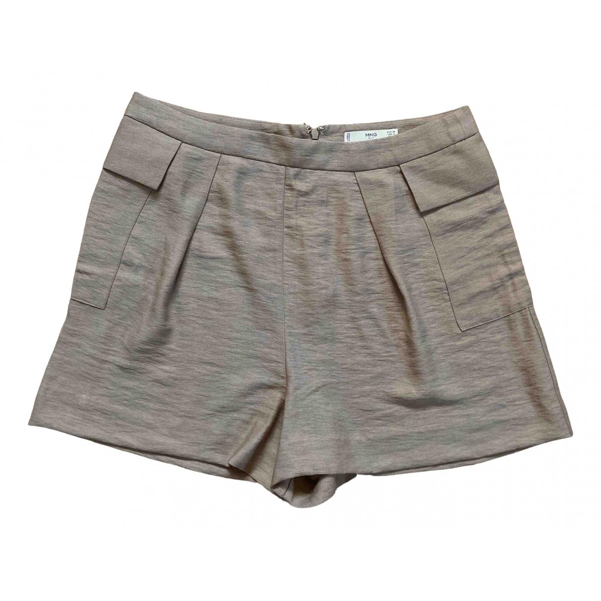 Mango \N Shorts in  Beige Viskose