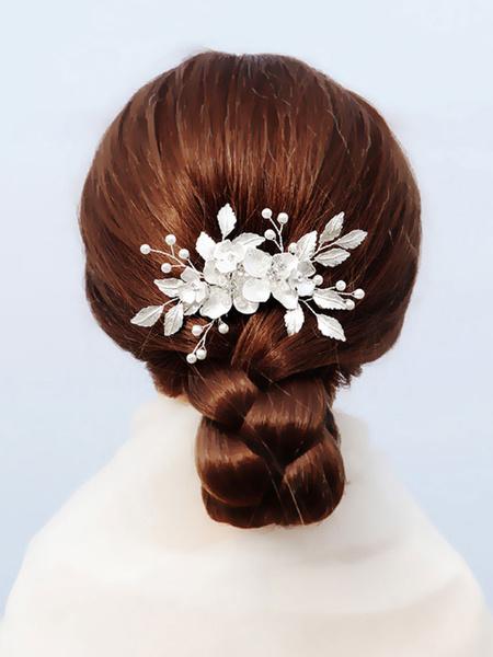 Milanoo Handmade Headpiece Wedding Comb Metal Hair Accessories For Bride