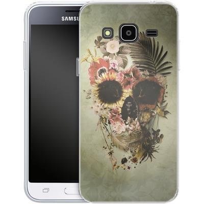 Samsung Galaxy J3 (2016) Silikon Handyhuelle - Garden Skull Light von Ali Gulec