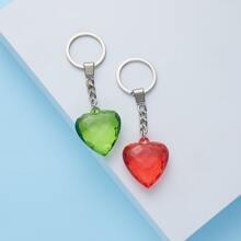 2 piezas llavero con corazon