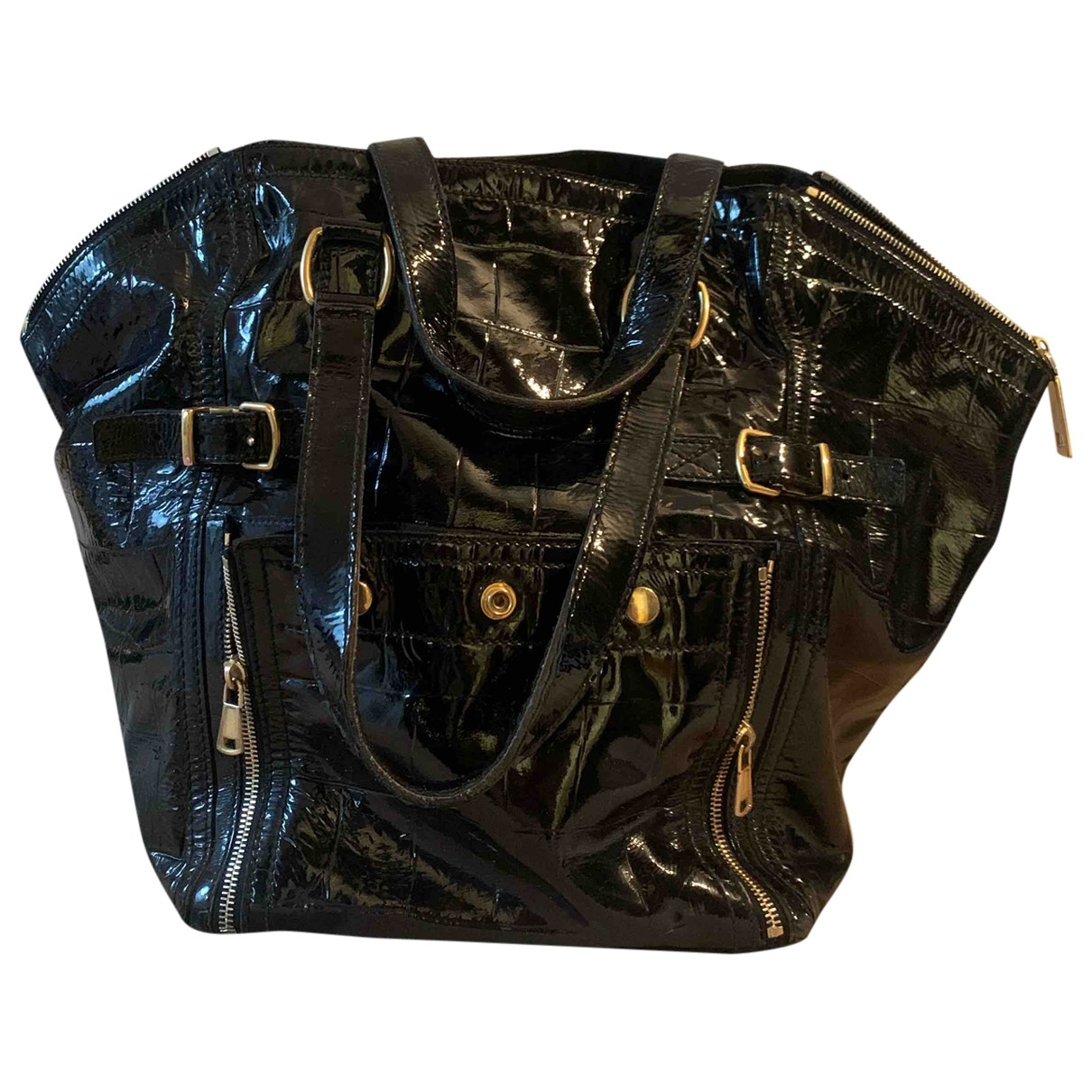 Yves Saint Laurent Downtown Handtasche in  Schwarz Leder