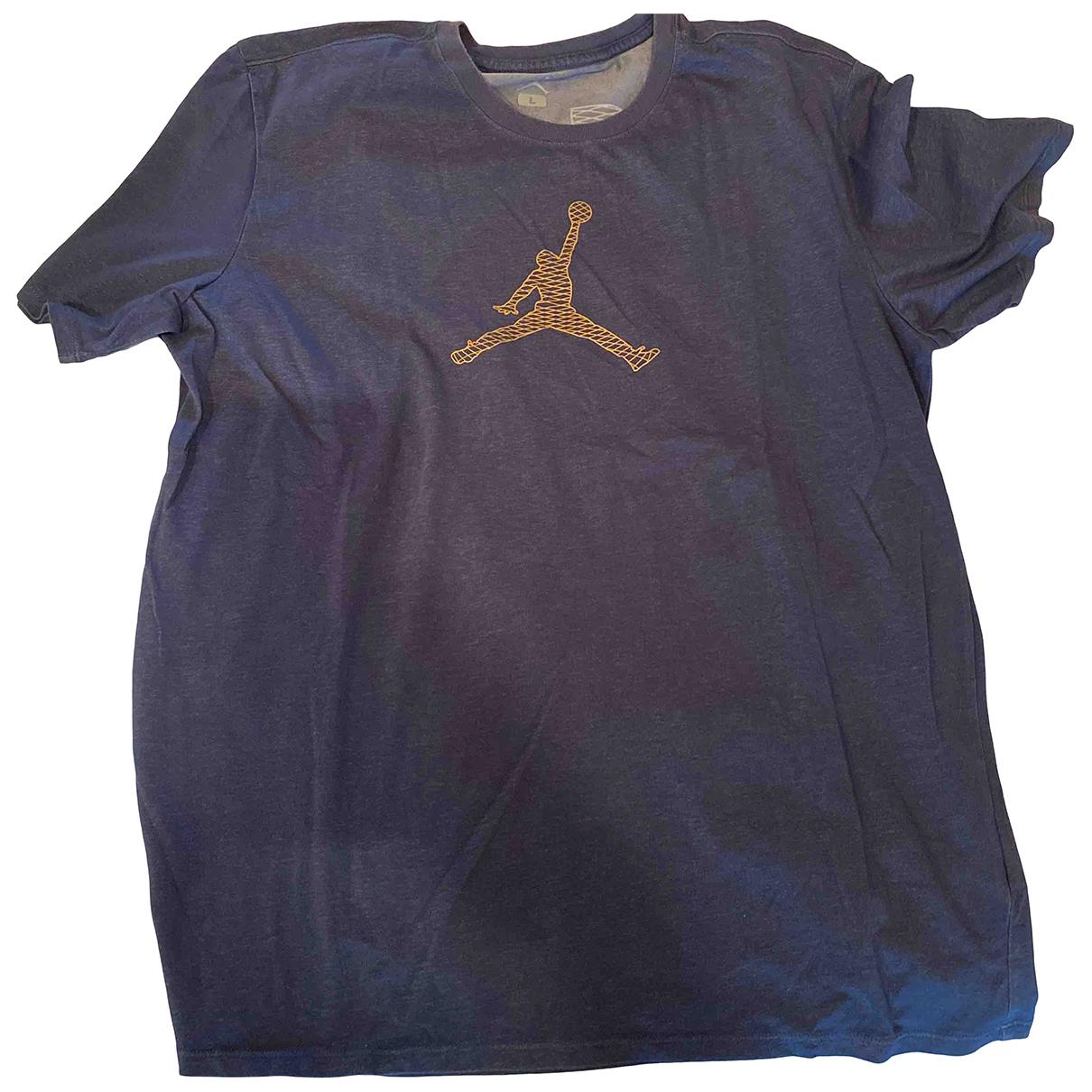 Jordan \N Blue Cotton T-shirts for Men L International
