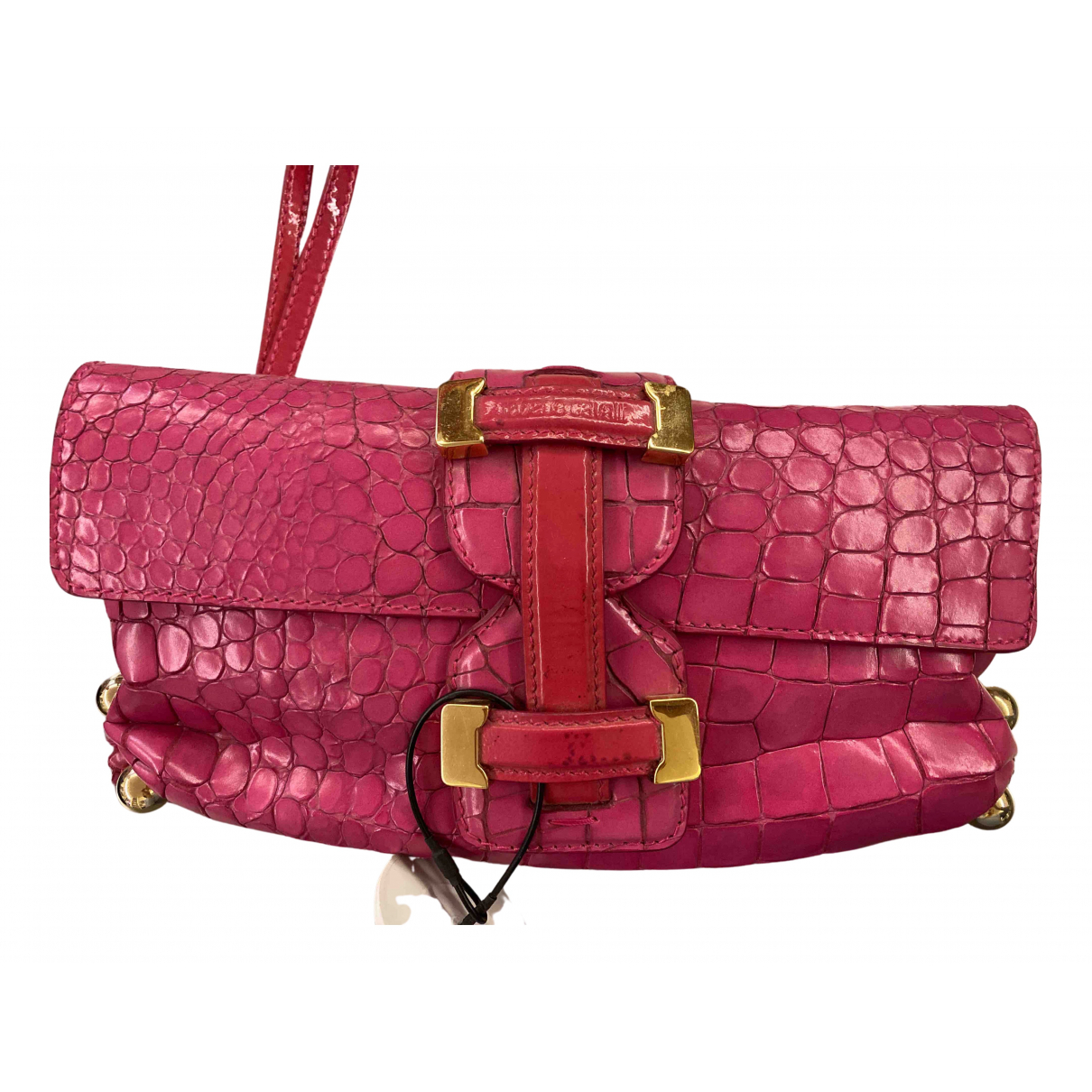 Roberto Cavalli N Pink Leather handbag for Women N
