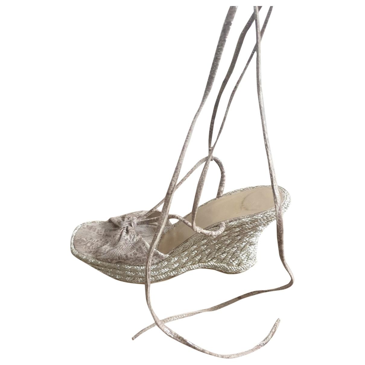 Stuart Weitzman - Sandales   pour femme en cuir - argente