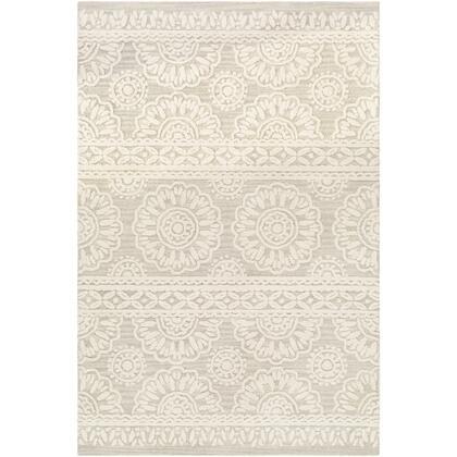 Izmir IZM-2307 6' x 9' Rectangle Traditional Rug in Light Gray  Khaki