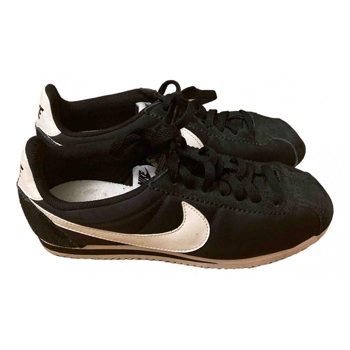 Nike Cortez Black Cloth Trainers for Women 38.5 EU
