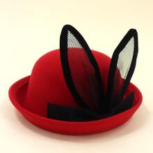Toddler Kids Ear Design Fedora Hat