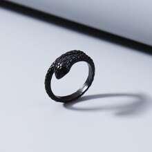 Men Metallic Serpentine Ring