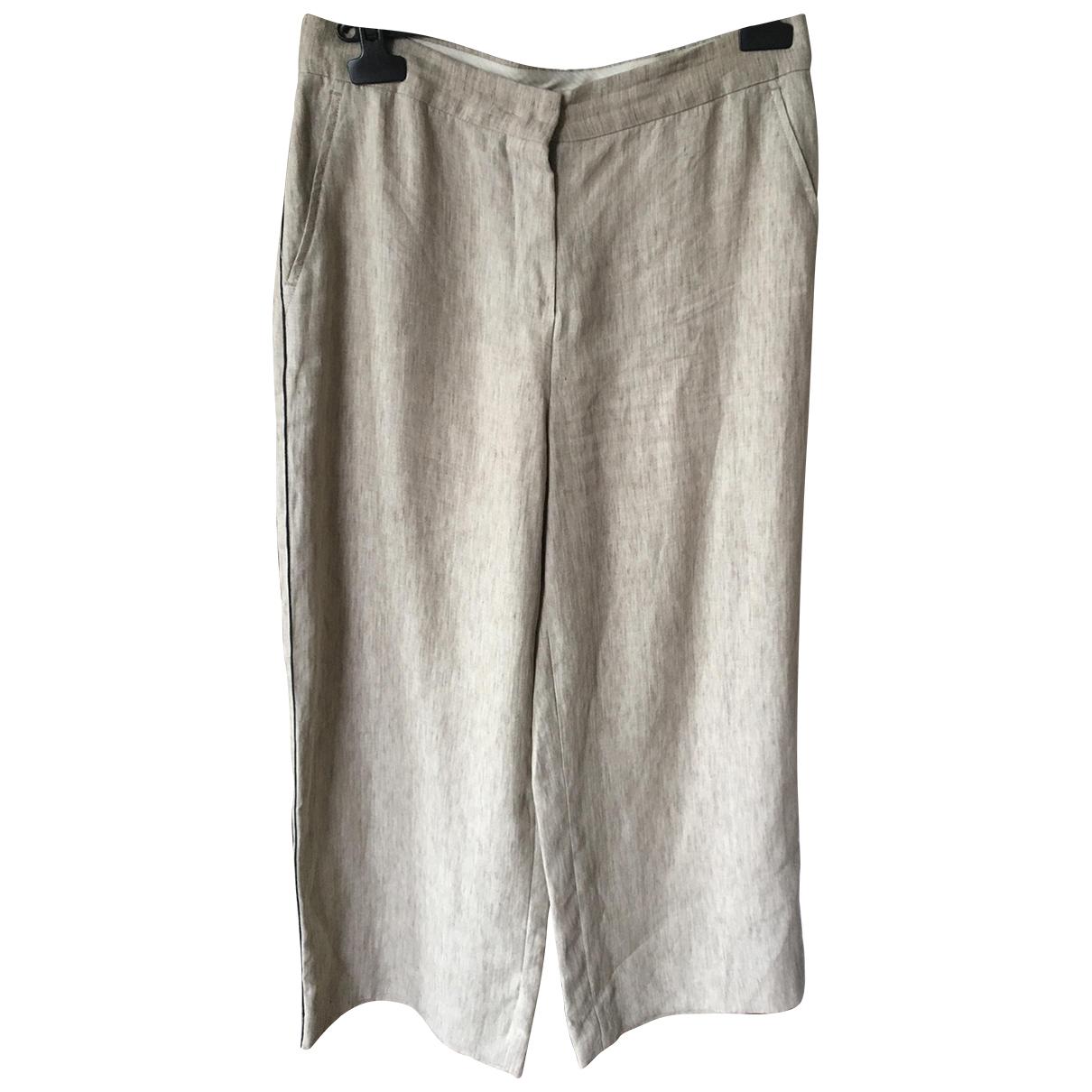 Pantalon de traje de Lino Max Mara Studio