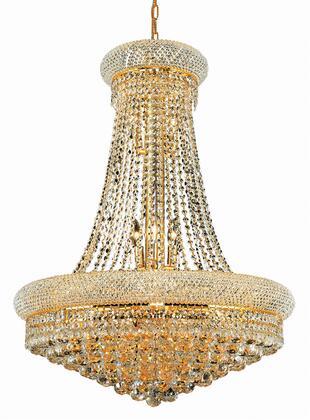V1800D28G/SS 1800 Primo Collection Chandelier D:28In H:36In Lt:14 Gold Finish (Swarovski   Elements