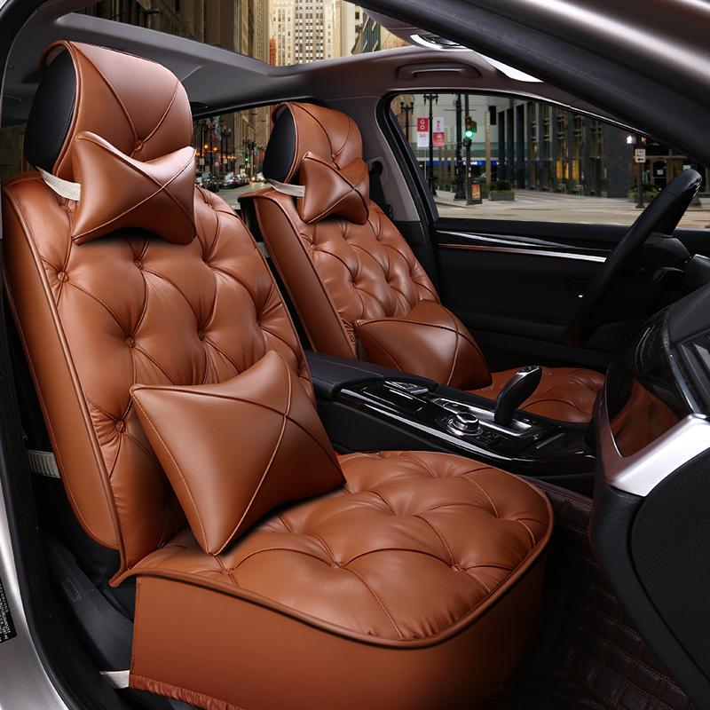 Luxurious Comfortable Cushions Diamond Pattern Design 5 Seats Universal Car Seat Covers