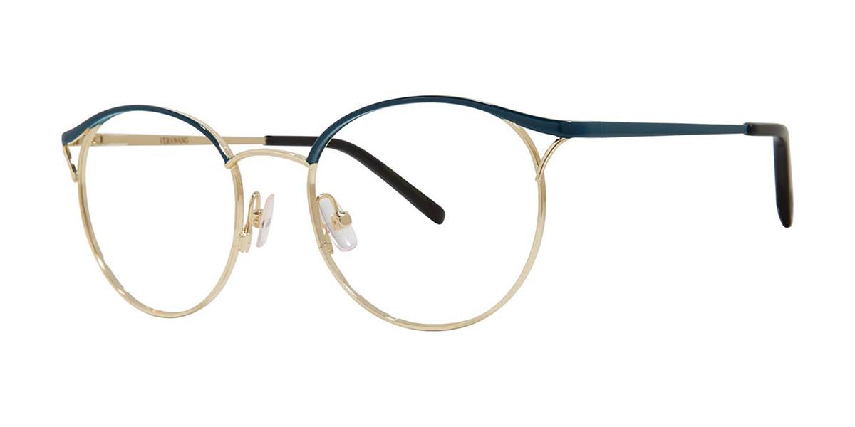 Vera Wang V552 Teal Men's Glasses Gold Size 49 - Free Lenses - HSA/FSA Insurance - Blue Light Block Available