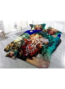 Starry Sky and Constellation Wear-resistant Breathable High Quality 60s Cotton 4-Piece 3D Bedding Sets
