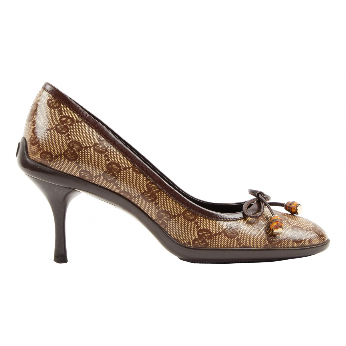 Gucci \N Pumps in  Braun Leinen