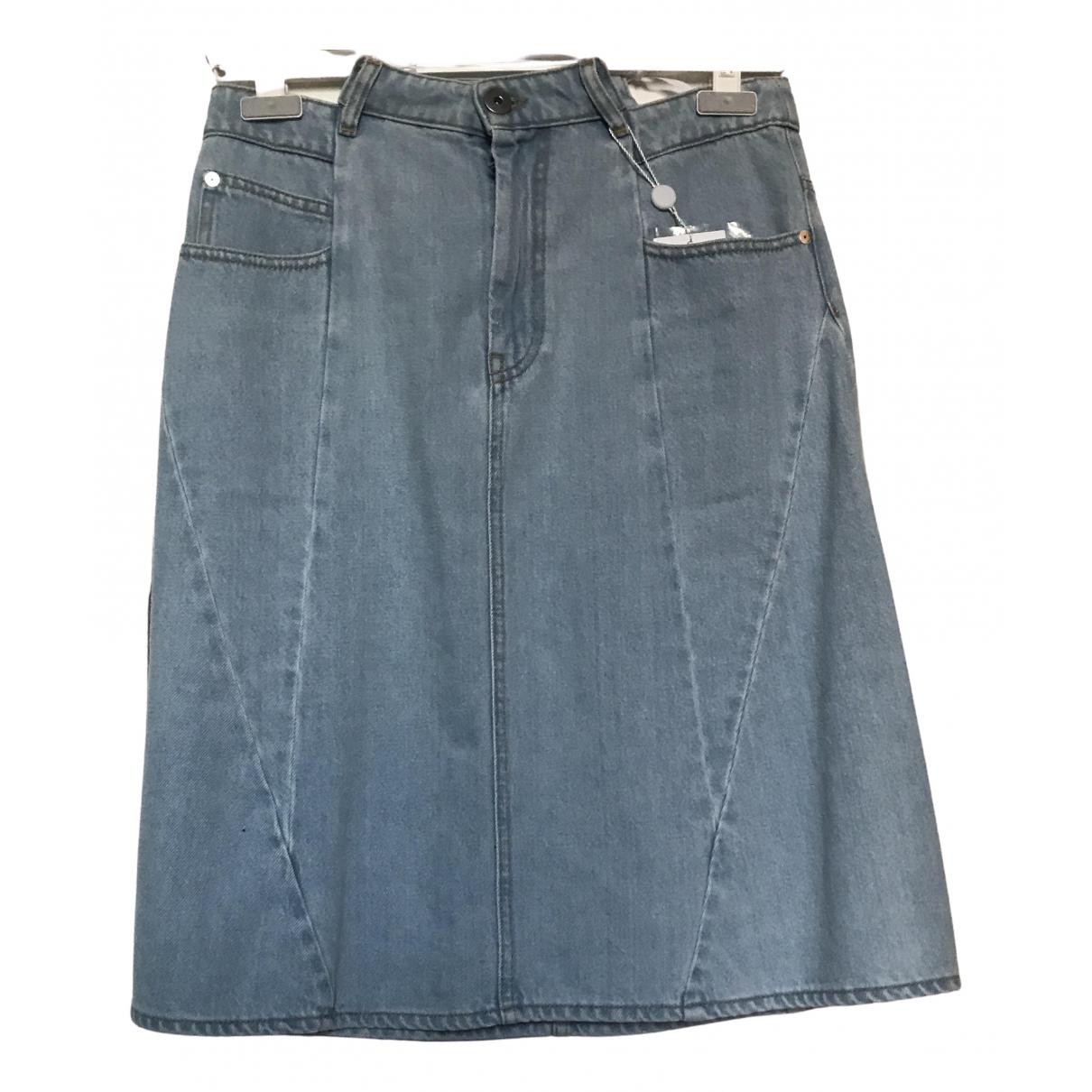 Maison Martin Margiela \N Rocke in  Blau Denim - Jeans