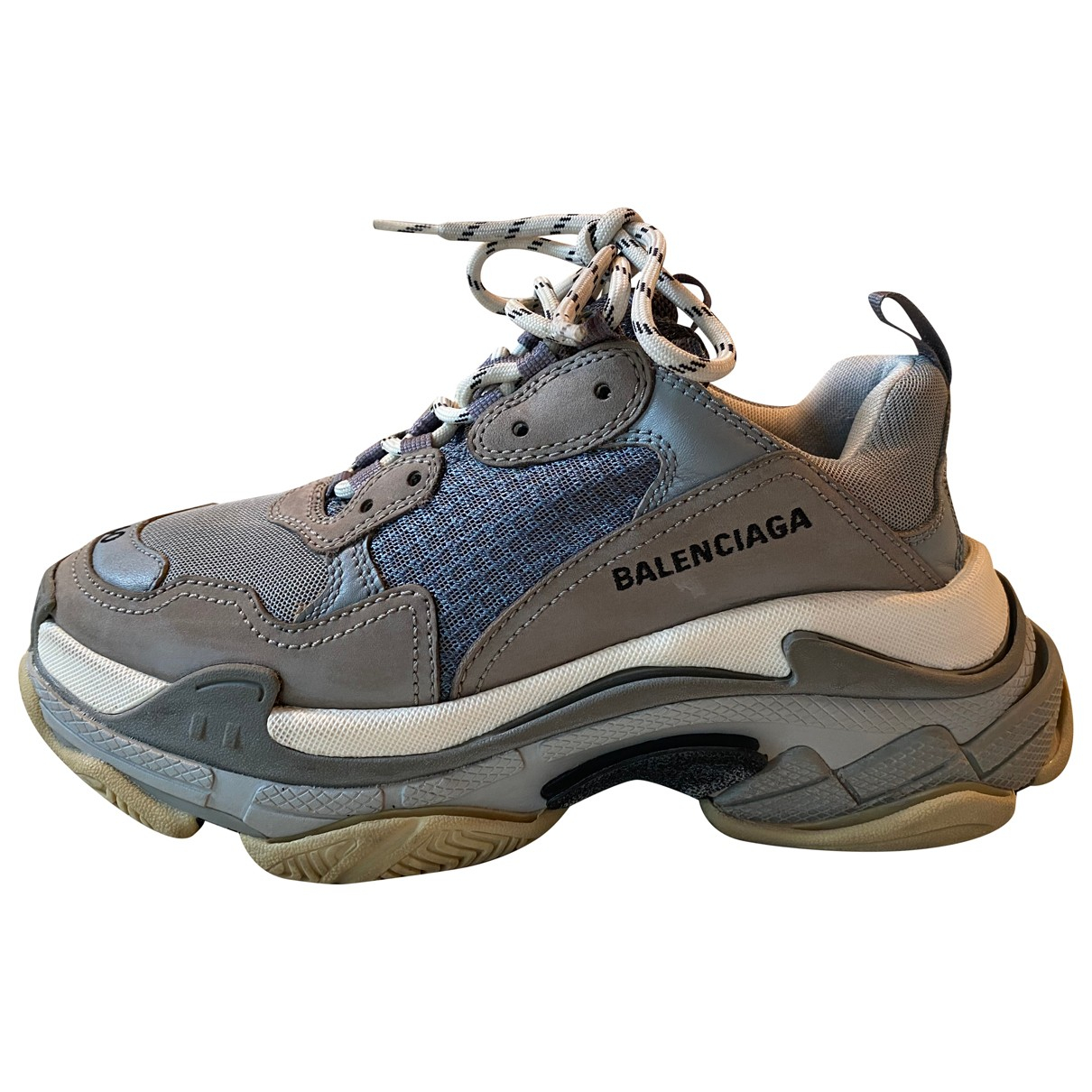 Balenciaga Triple S Grey Leather Trainers for Women 40 IT