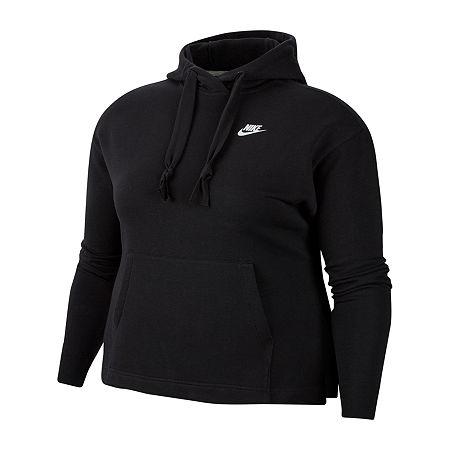 Nike Womens Hooded Neck Long Sleeve Hoodie, Large , Black