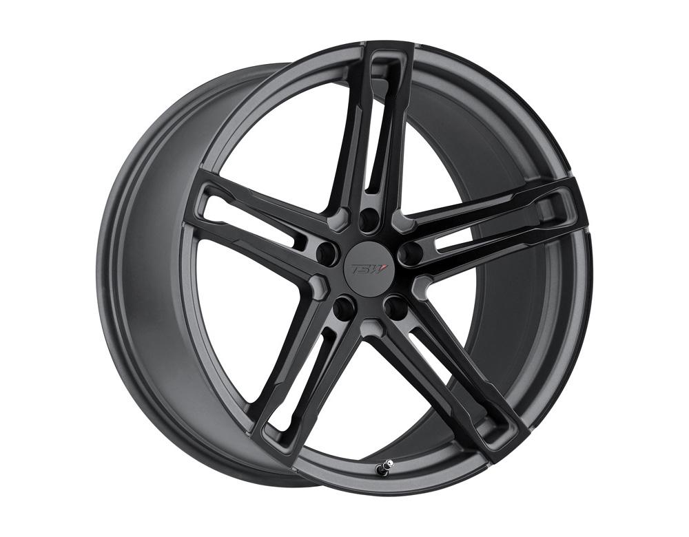 TSW Mechanica Wheel 18x8.5 5x114.3 15mm Matte Gunmetal w/ Matte Black Face