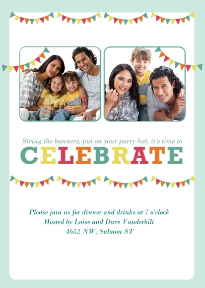 Party Invitations Flat Matte Photo Paper Cards with Envelopes, 5x7, Card & Stationery -It's My Party!