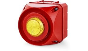 AUER Signal ADS-T Sounder Beacon Yellow LED, 24 V ac/dc, IP66
