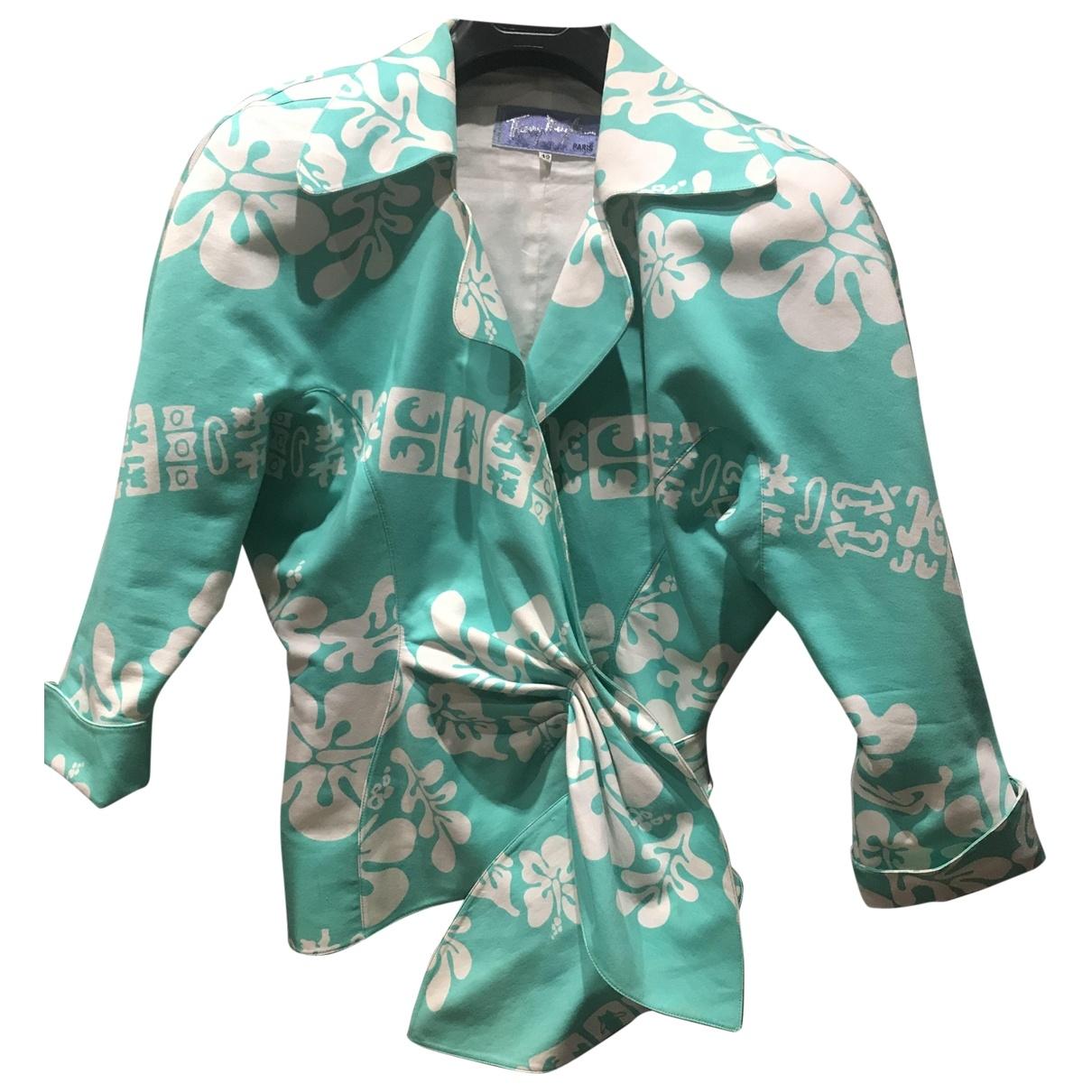 Thierry Mugler \N White / Green Cotton jacket for Women 42 FR