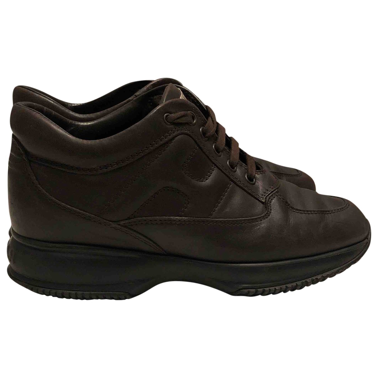 Hogan \N Brown Leather Trainers for Women 38 EU