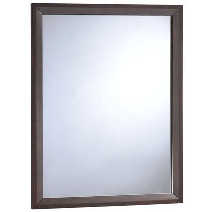 Tracy Collection MOD-5243-CAP 31 x 39 Mirror with Mid-Century Style  Rectangle Shape  Medium-Density Fiberboard (MDF) and Rubberwood Construction