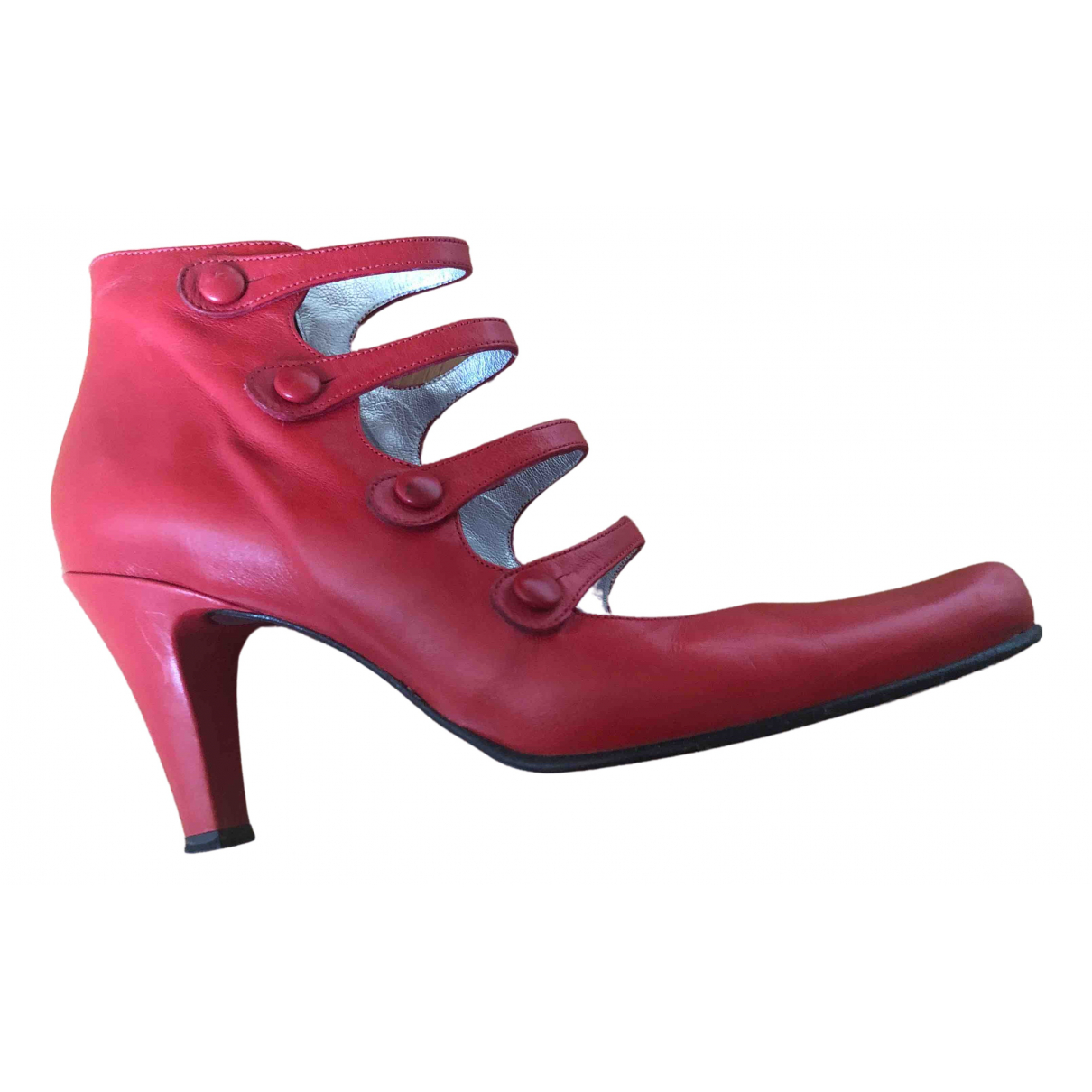 Free Lance \N Red Leather Ankle boots for Women 38 EU
