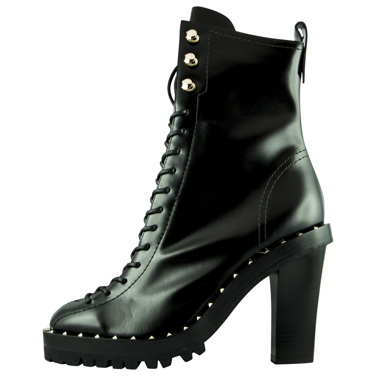 Valentino Garavani \N Black Patent leather Ankle boots for Women 39 EU