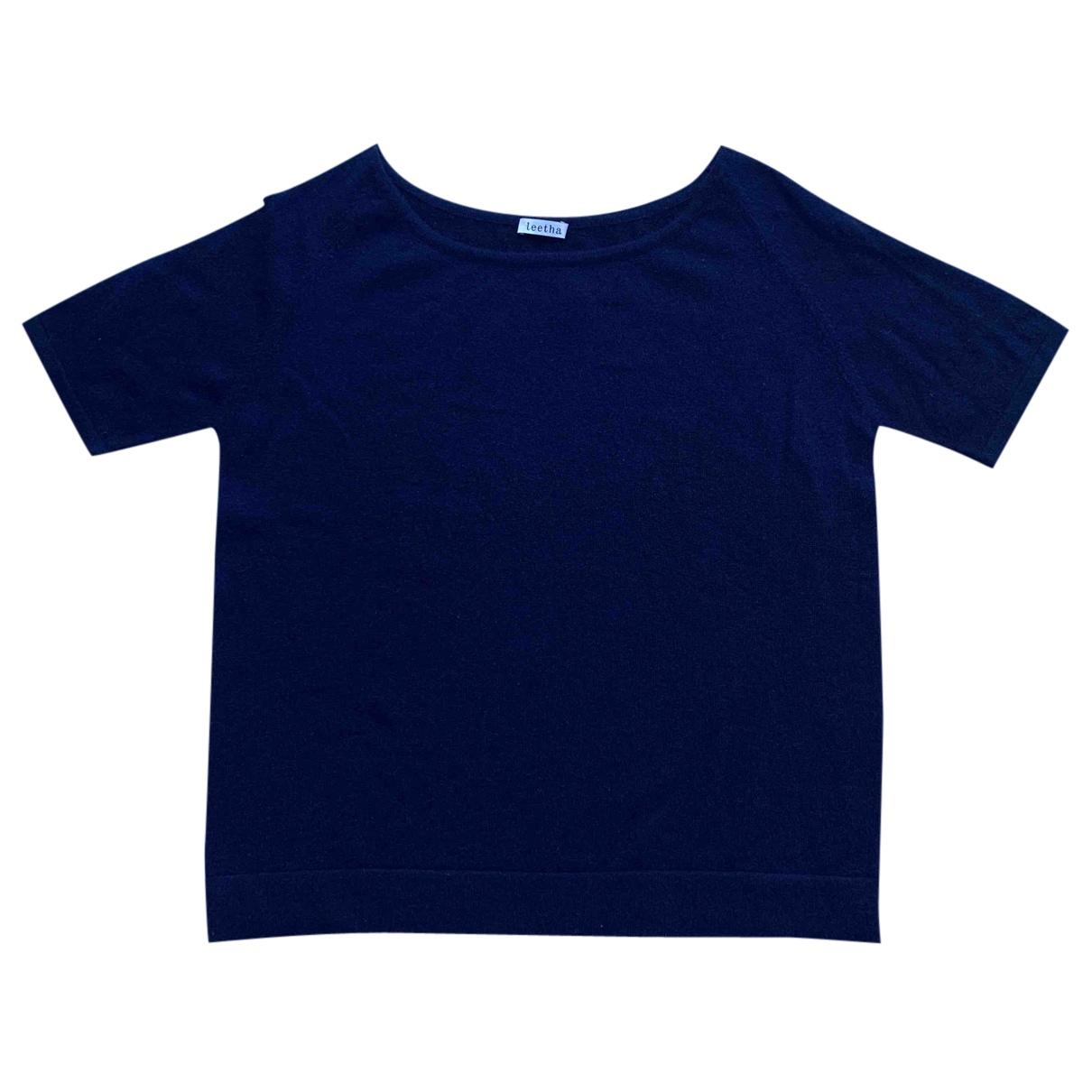 Leetha - Pull   pour femme en cachemire - bleu