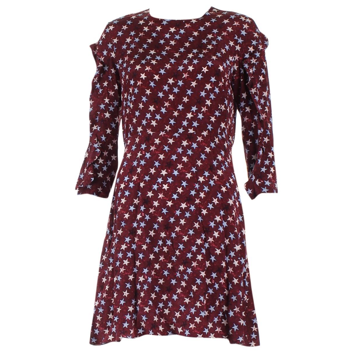 Sandro - Robe   pour femme en soie - rouge