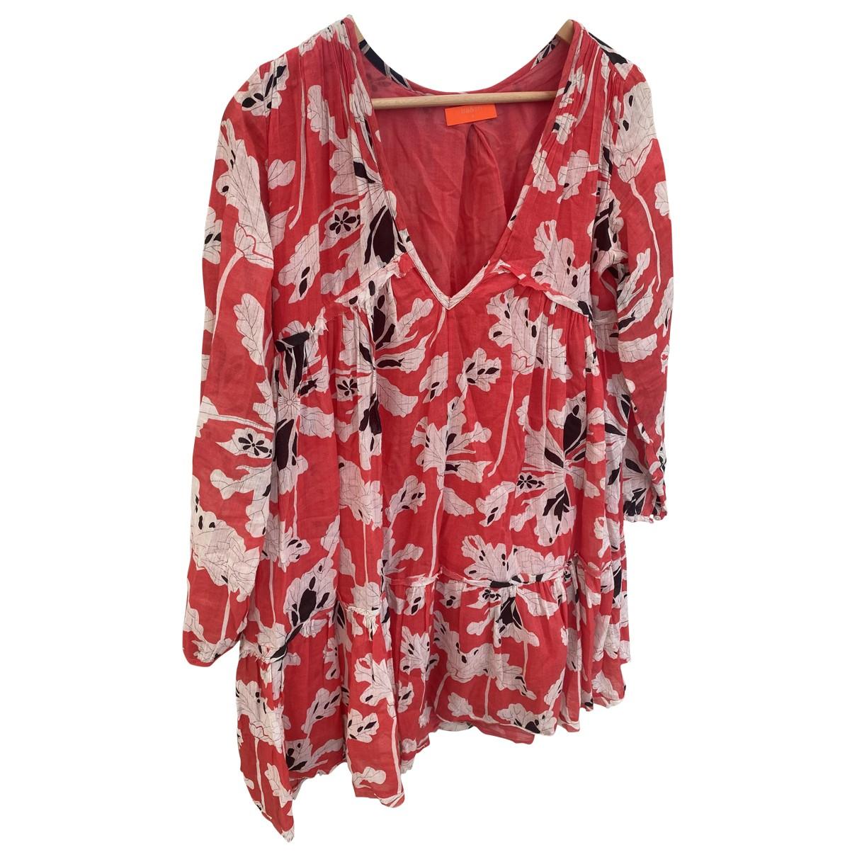 Ba&sh - Robe   pour femme en coton - rouge