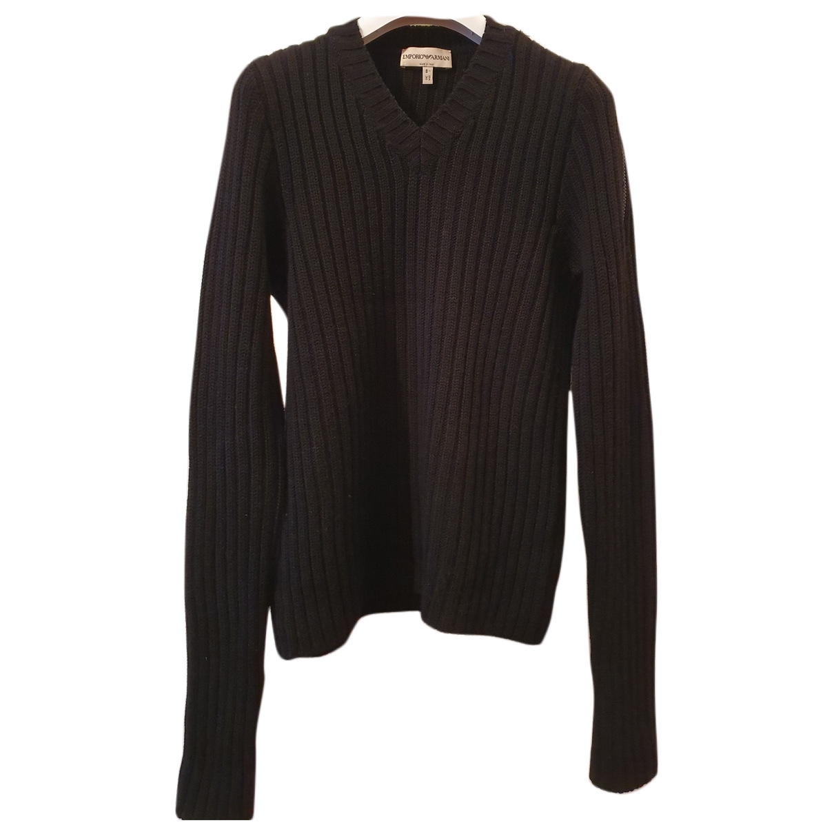 Emporio Armani \N Pullover.Westen.Sweatshirts  in  Schwarz Wolle