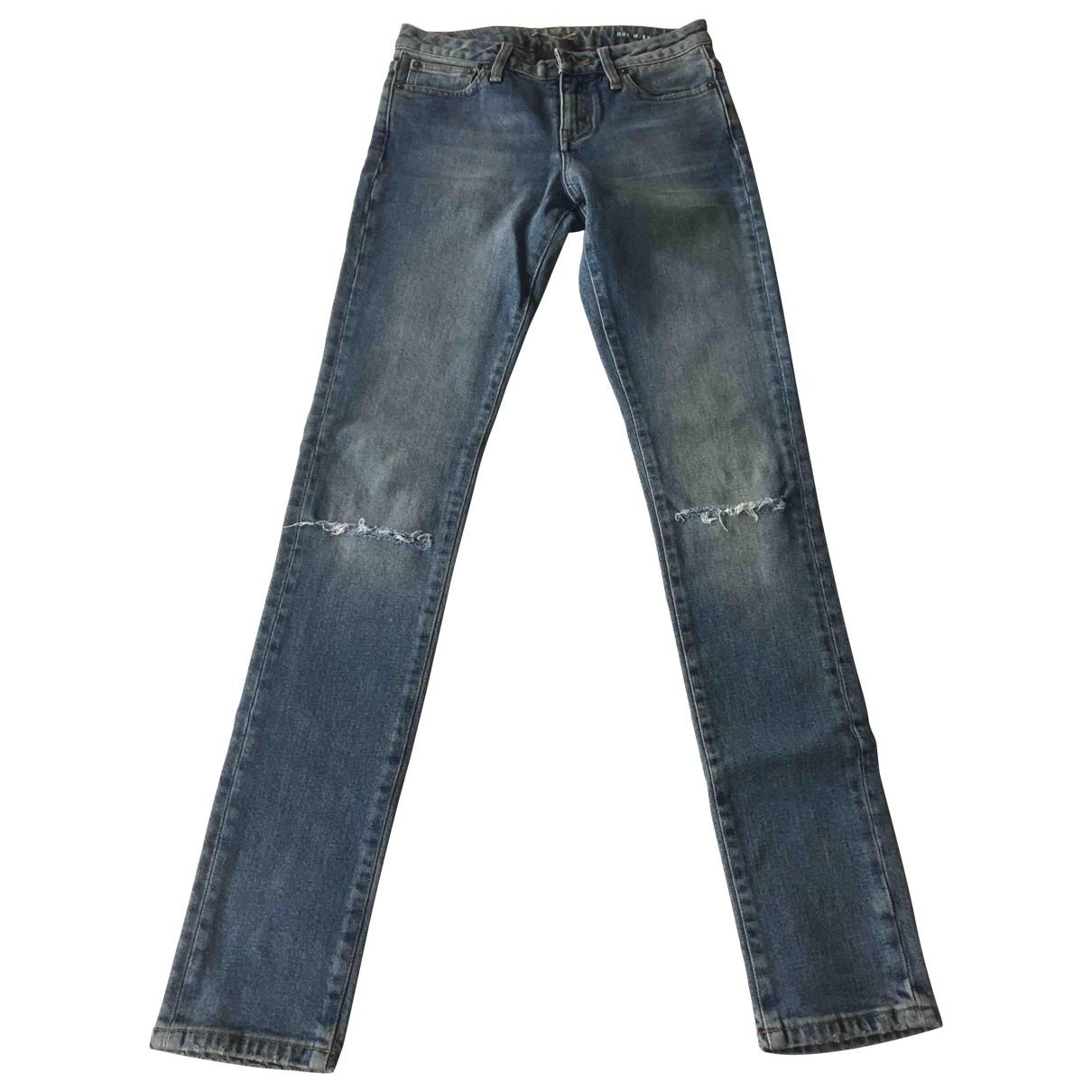 Saint Laurent \N Blue Cotton Jeans for Women 26 US