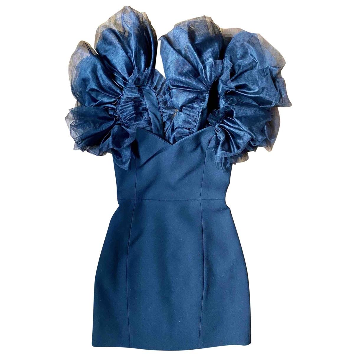 Mini vestido de Lana Saint Laurent